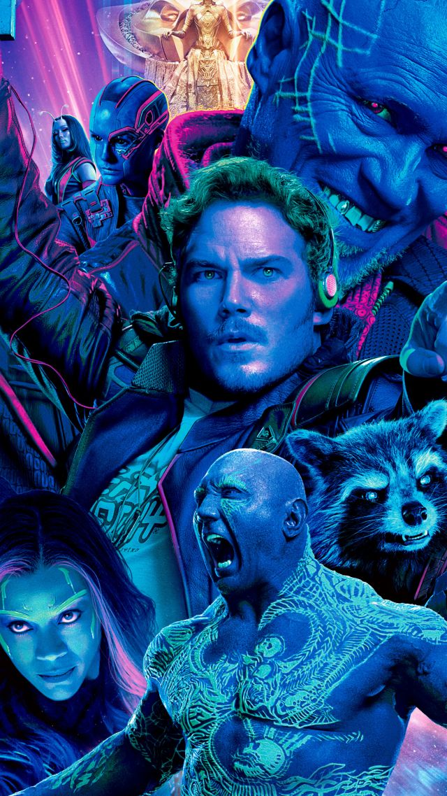 Guardians of the Galaxy Vol. 2, Star-Lord, Gamora, Drax, Rocket, Yondu Udonta, best movies (vertical)