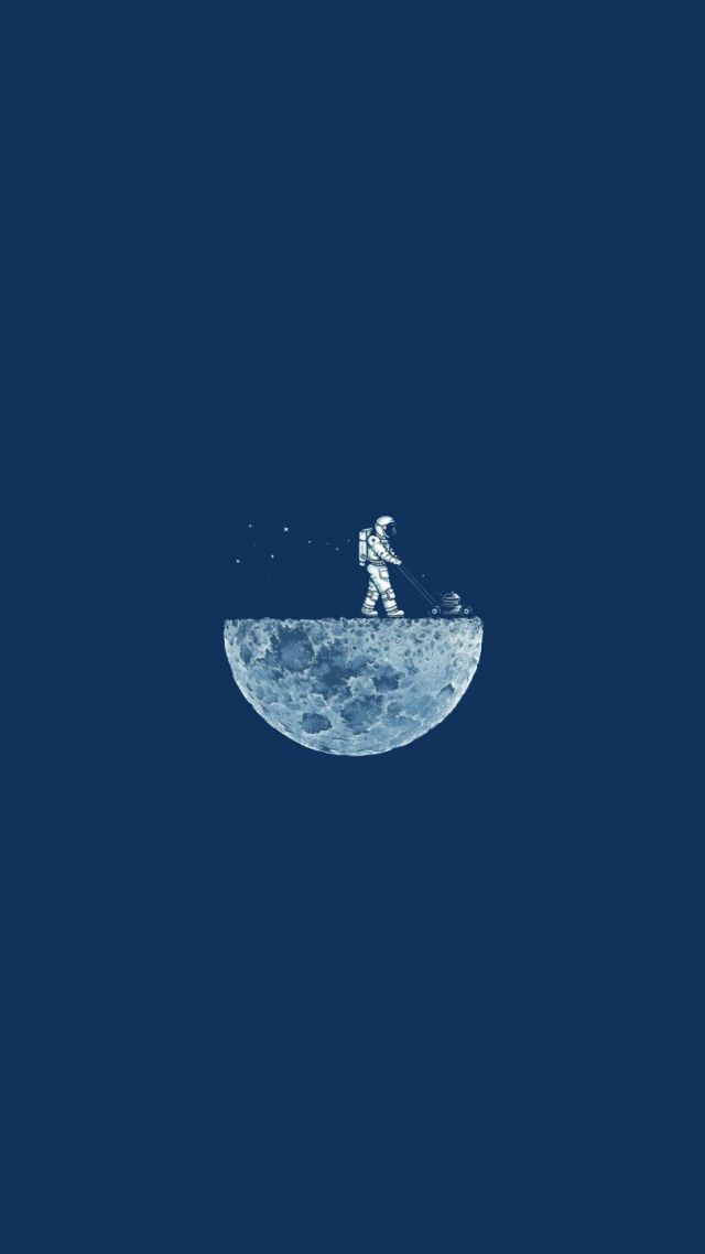 Wallpaper Moon Mow 4k Hd Moon Minimalism Iphone Wallpaper