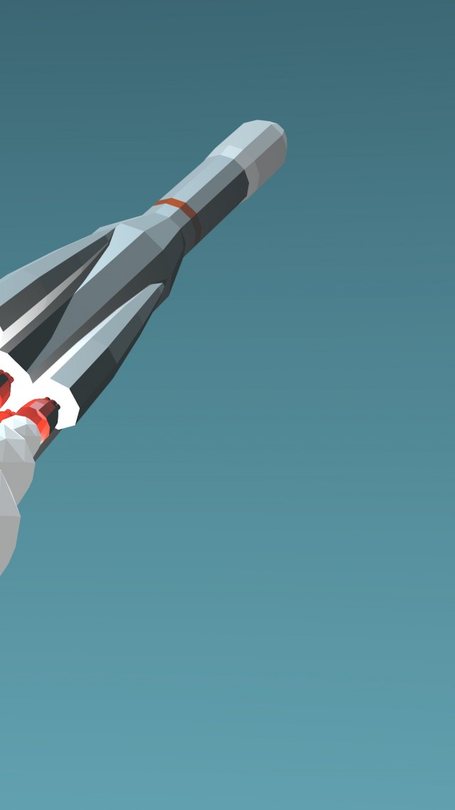 Blue Rocket Launch 4k 5k Iphone Wallpaper Low Poly Minimalism