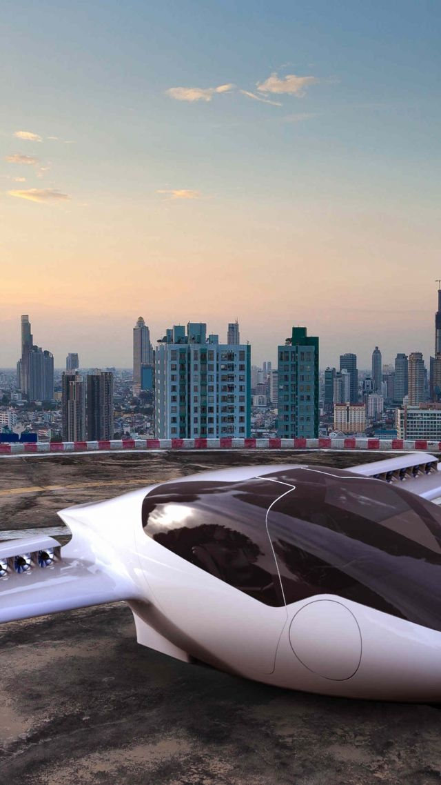 Lilium Jet, aerial vehicle, flying car (vertical)