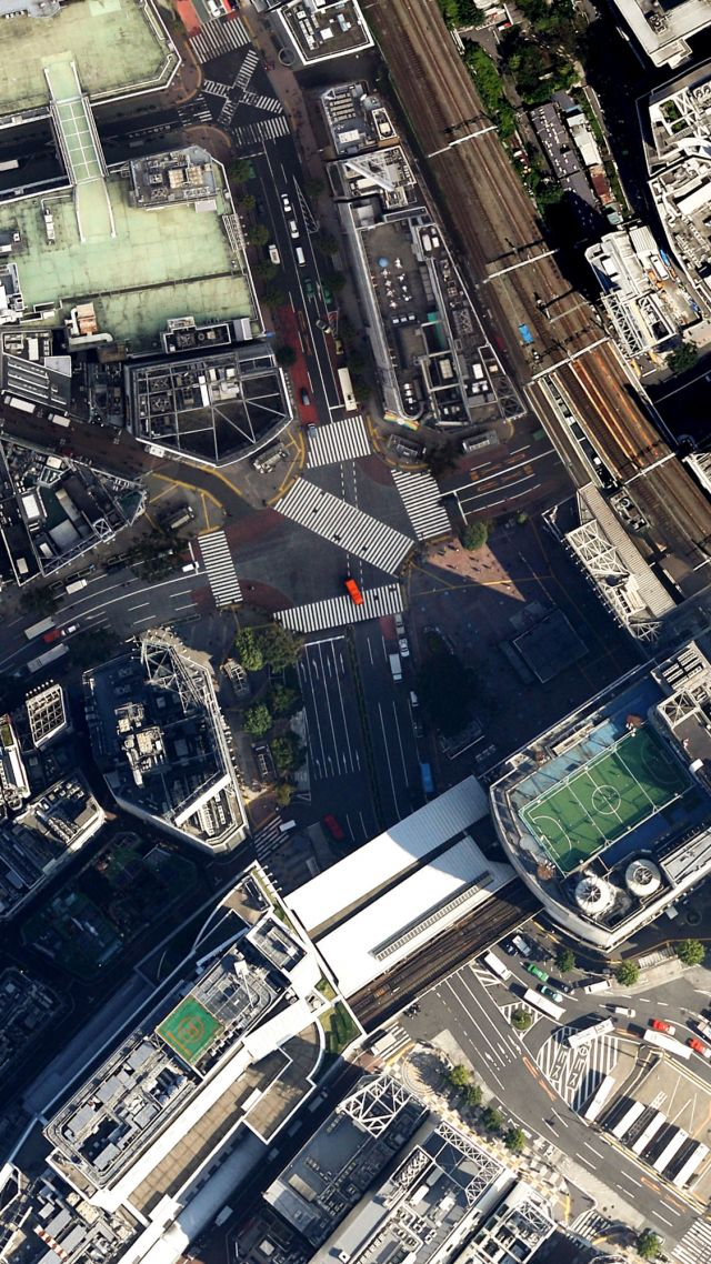 Wallpaper Bird S Eye View City Life Town 4k 5k Iphone Wallpaper Architecture 13494