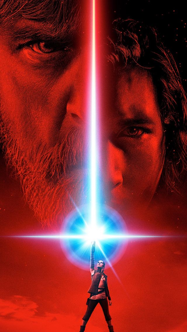 Star Wars: The Last Jedi, poster, Mark Hamill, Daisy Ridley, best movies (vertical)