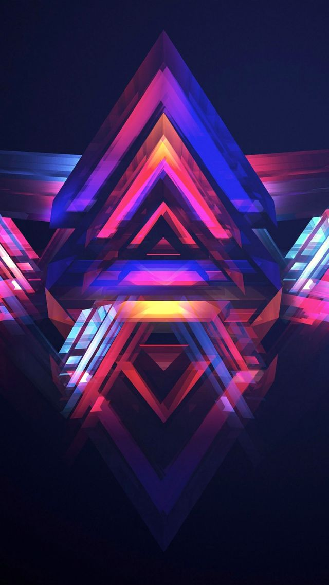 HD, abstract, polygon (vertical)