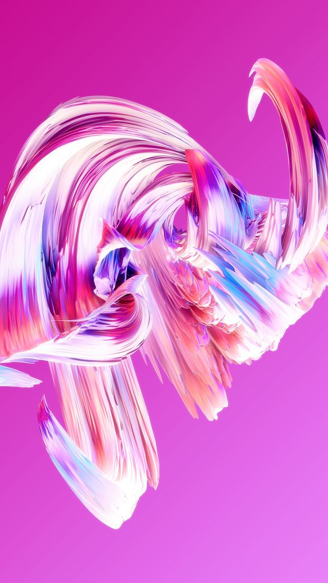 HD, abstract, Paintwaves, pink (vertical)