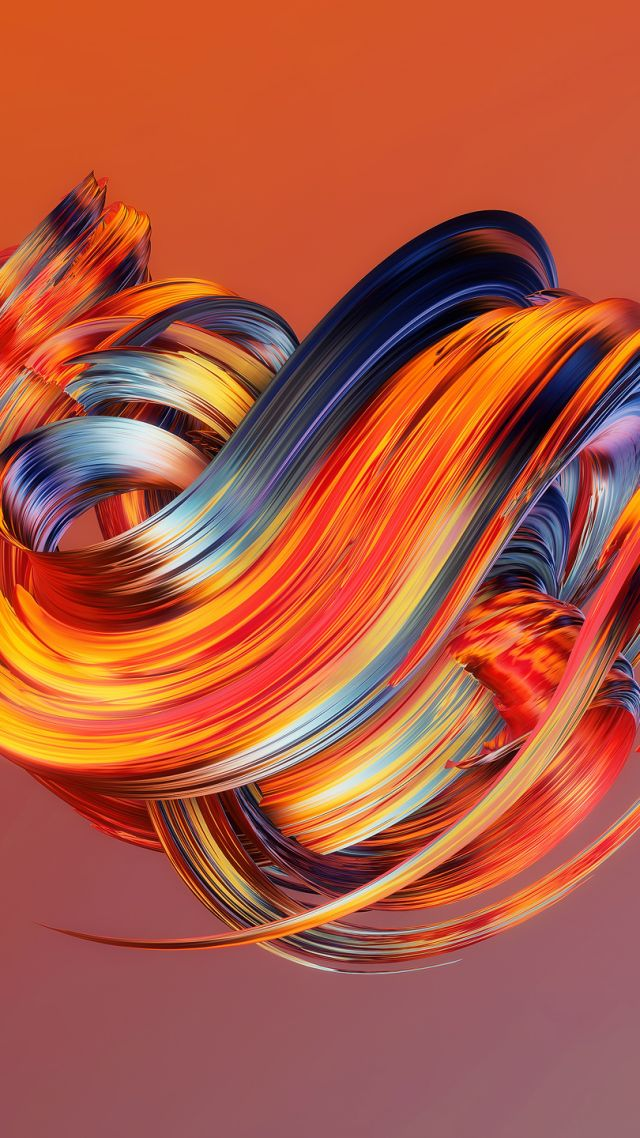Wallpaper hd abstract paintwaves orange os 13568 hd abstract paintwaves orange vertical voltagebd Images
