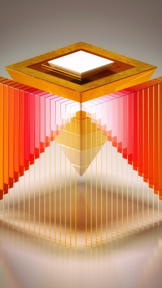HD, abstract, 3D, Medaltations, cube (vertical)
