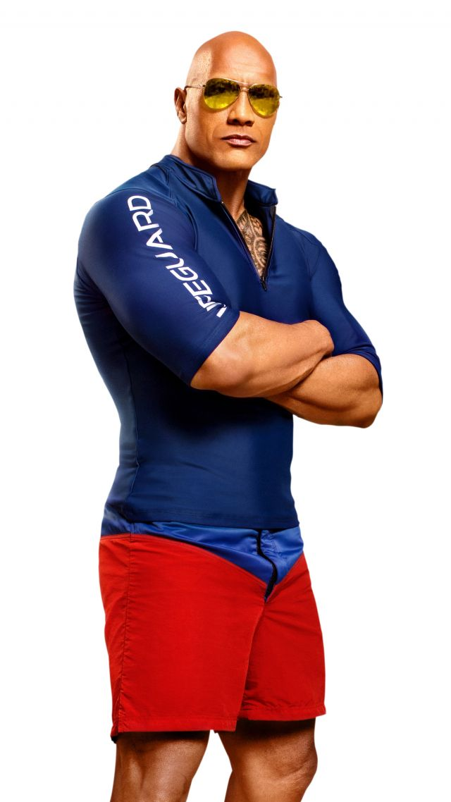Dwayne Johnson, Baywatch, 4k, 8k (vertical)