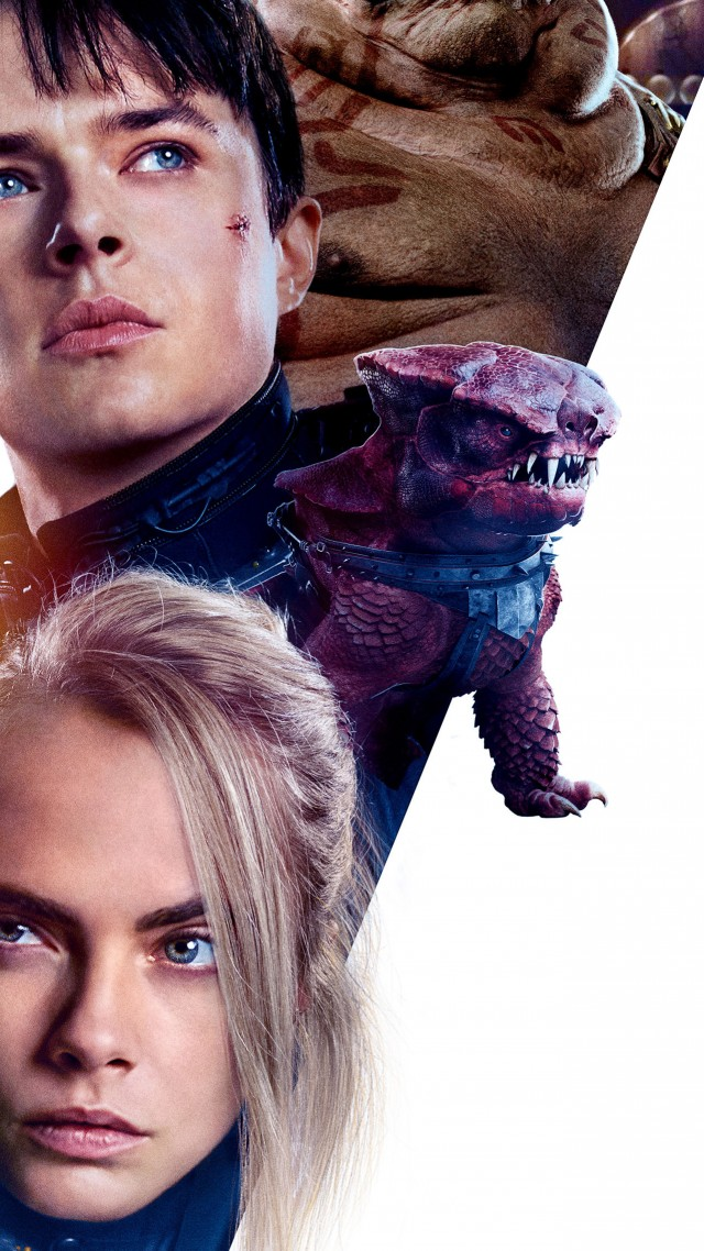 Valerian and the City of a Thousand Planets, 4k, Cara Delevingne, Dane DeHaan (vertical)