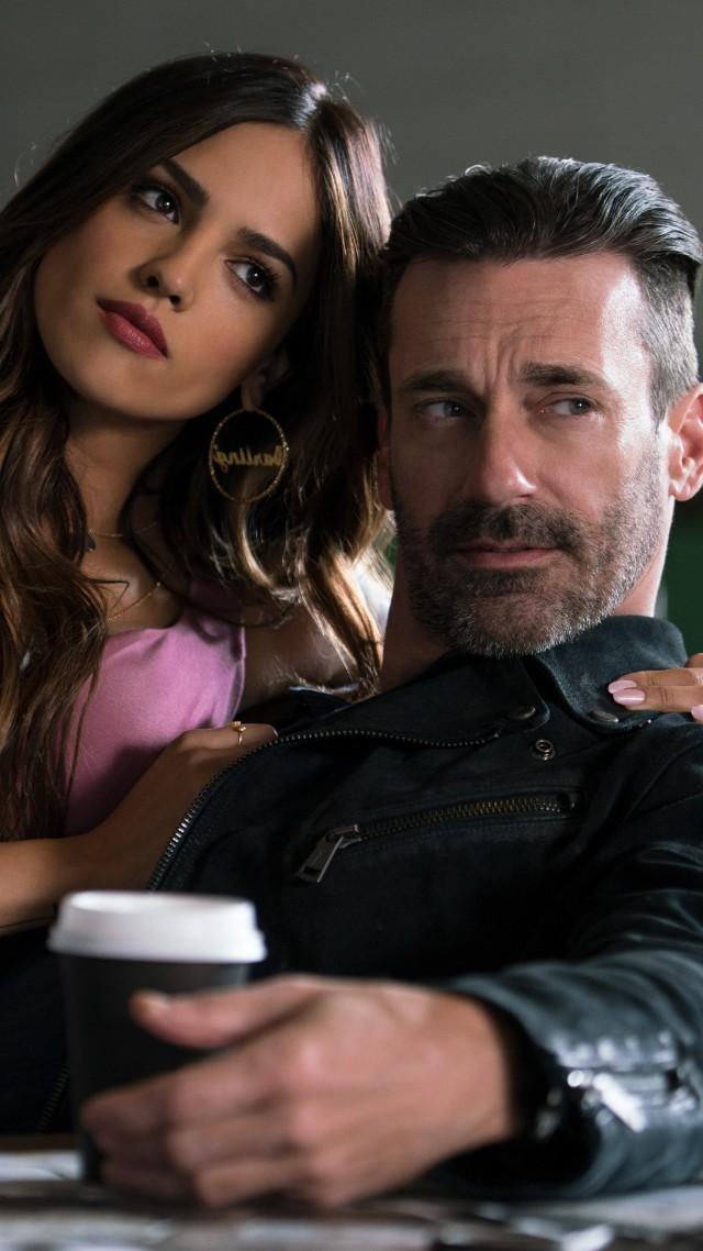 Wallpaper Baby Driver Eiza Gonzalez Jon Hamm 5k Movies