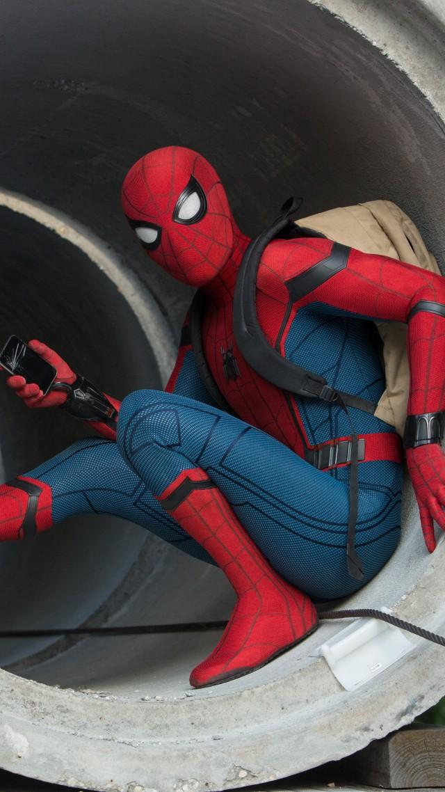 wallpaper spiderman homecoming 5k movies 14084