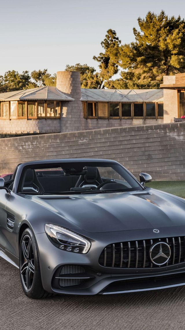 Mercedes-AMG GT C Roadster, 2018 Cars, 4k (vertical)