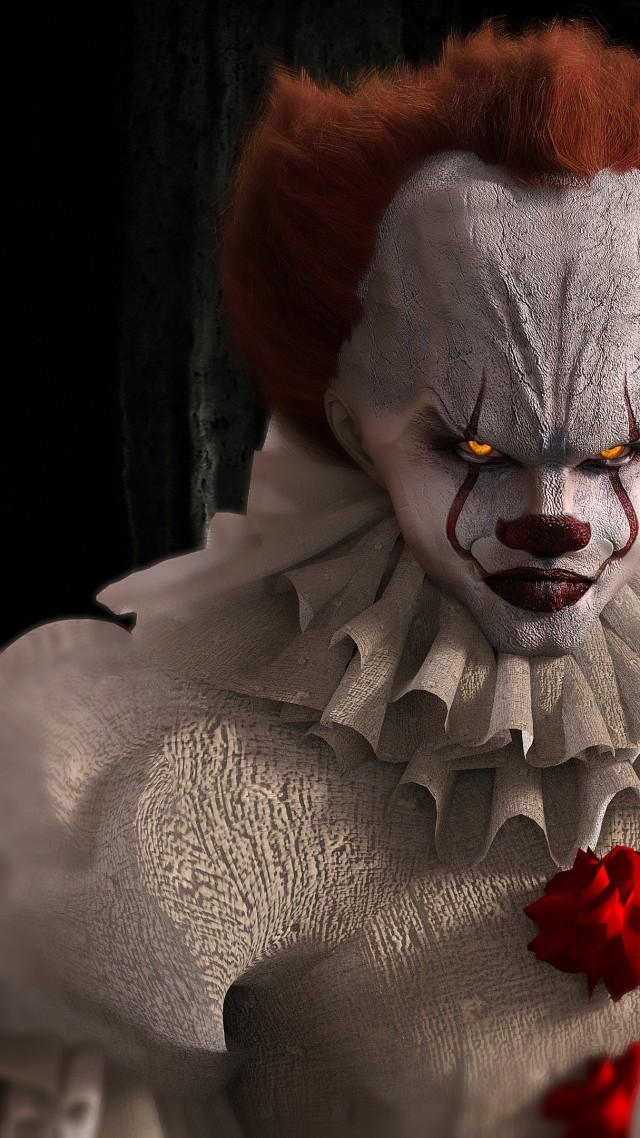 Wallpaper It Bill Skarsgard Scary Clown 4k Movies 14911