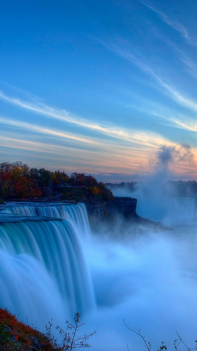 Niagara Falls, waterfall, New York, USA, 4k (vertical)