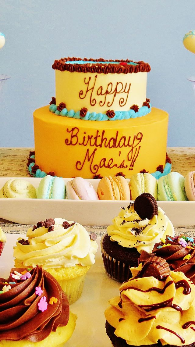 Birthday Cake Macarons Receipt 4k Vertical