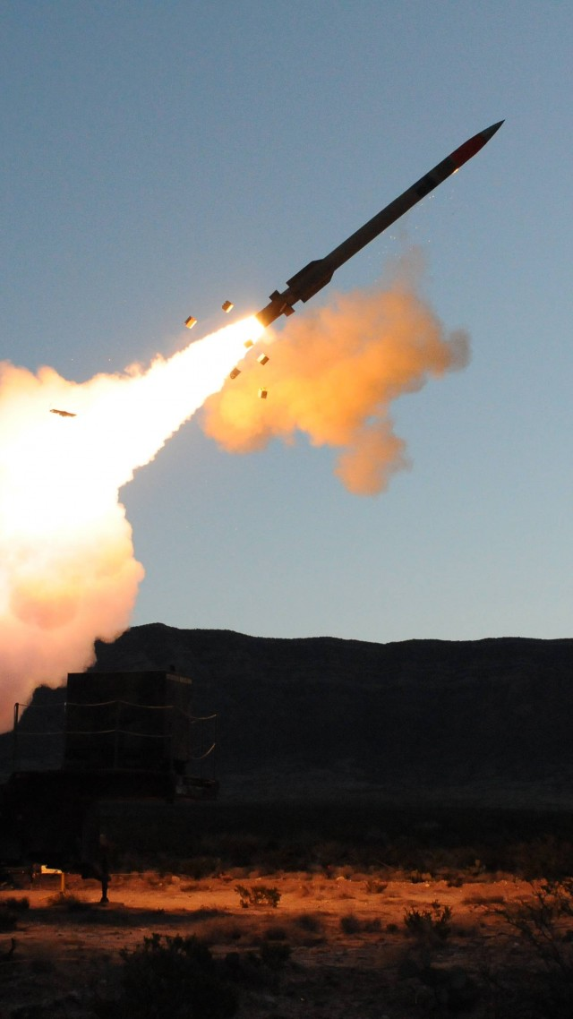 MIM-104, Patriot, SAM, missile system, Raytheon, MIM-104F, PAC-3, USA Army, missile firing (vertical)