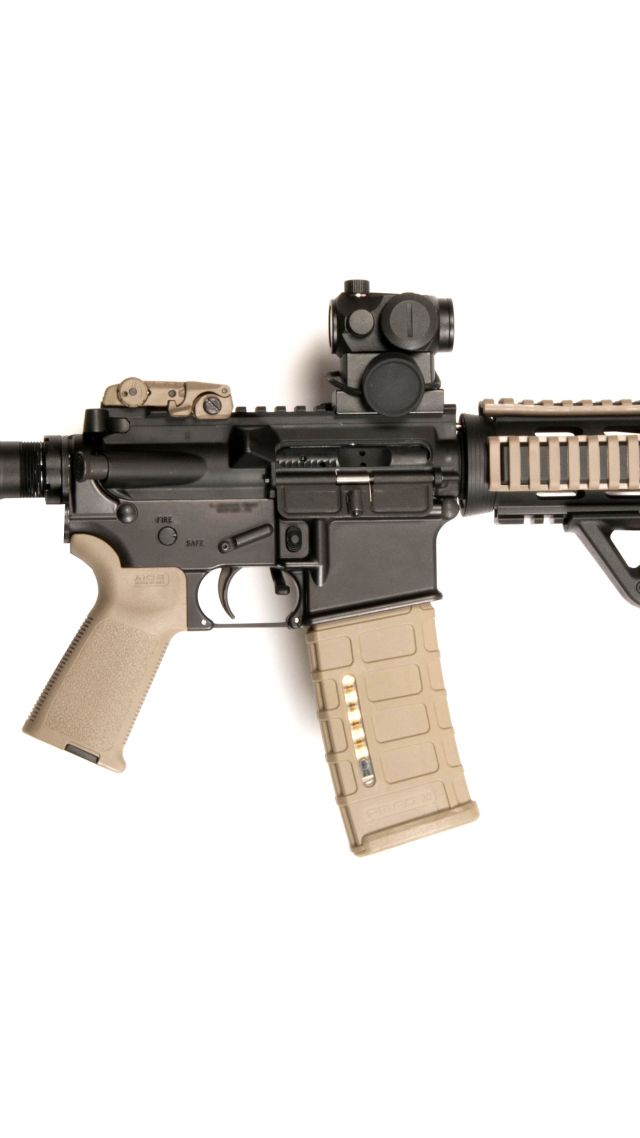 AR-15, M-16, red sight, U.S. Army, Marine Corps (vertical)