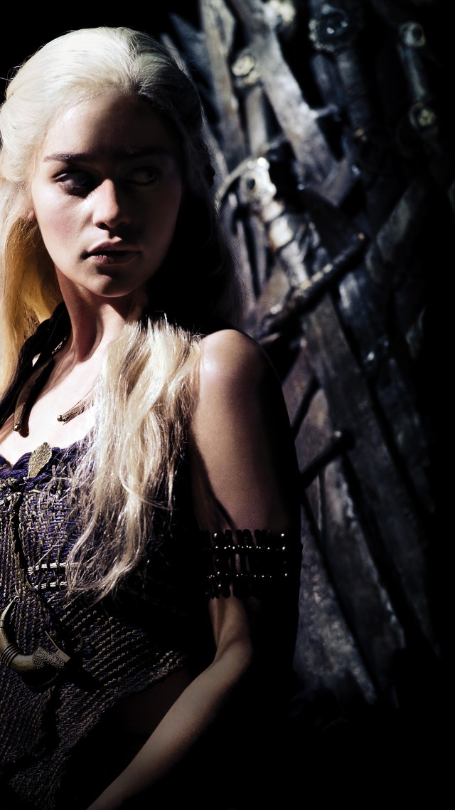 Game of Thrones, Daenerys Targaryen, Emilia Clarke, TV Series, 8k (vertical)