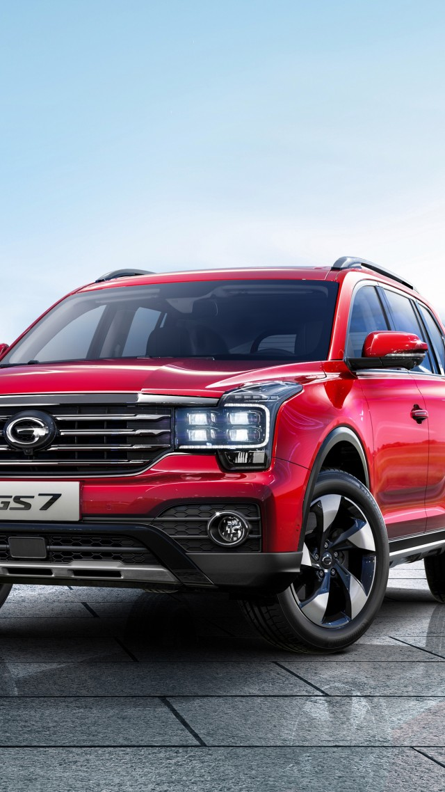 Trumpchi GS7, 2018 cars, 4k (vertical)