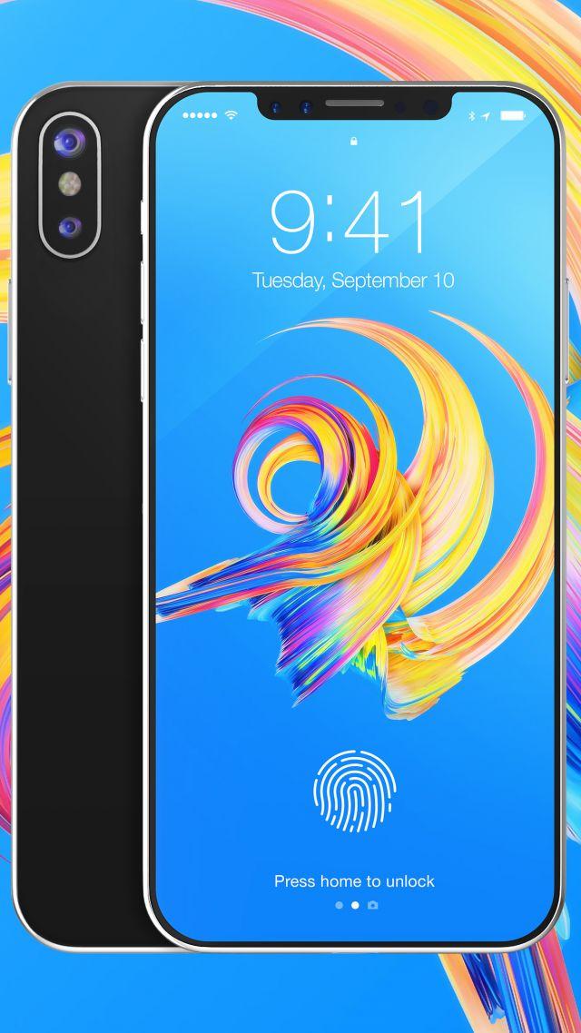 Wallpaper iPhone X, silver, 3D, leaked, WWDC 2017, 4k, Hi ...