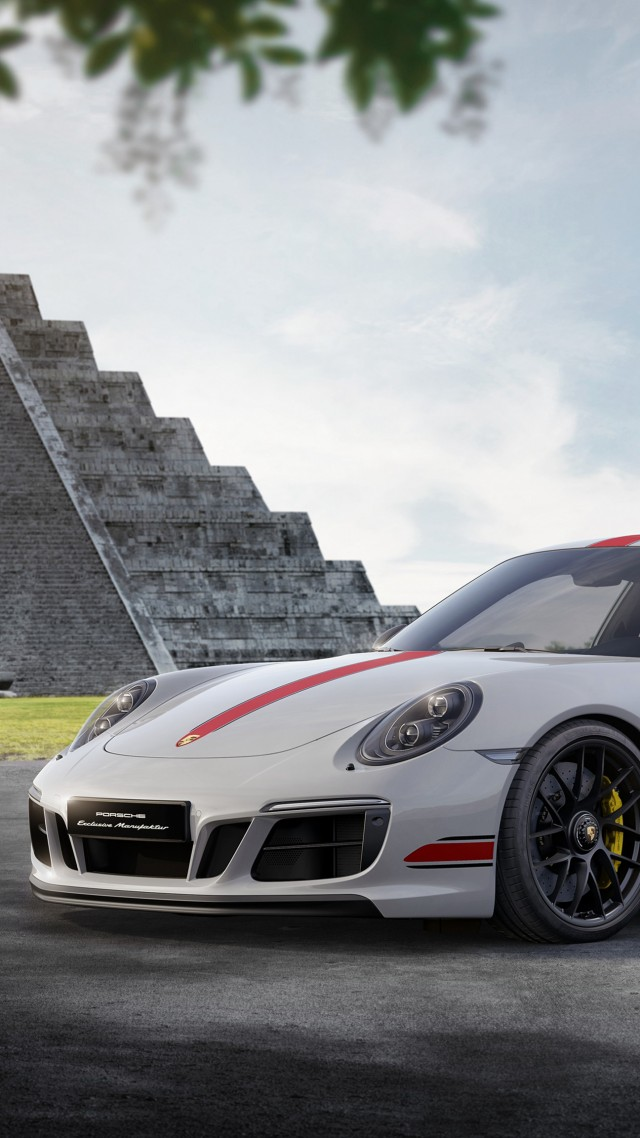 ... Porsche 911 Carrera GTS Coupe, cars 2017, 4k (vertical)