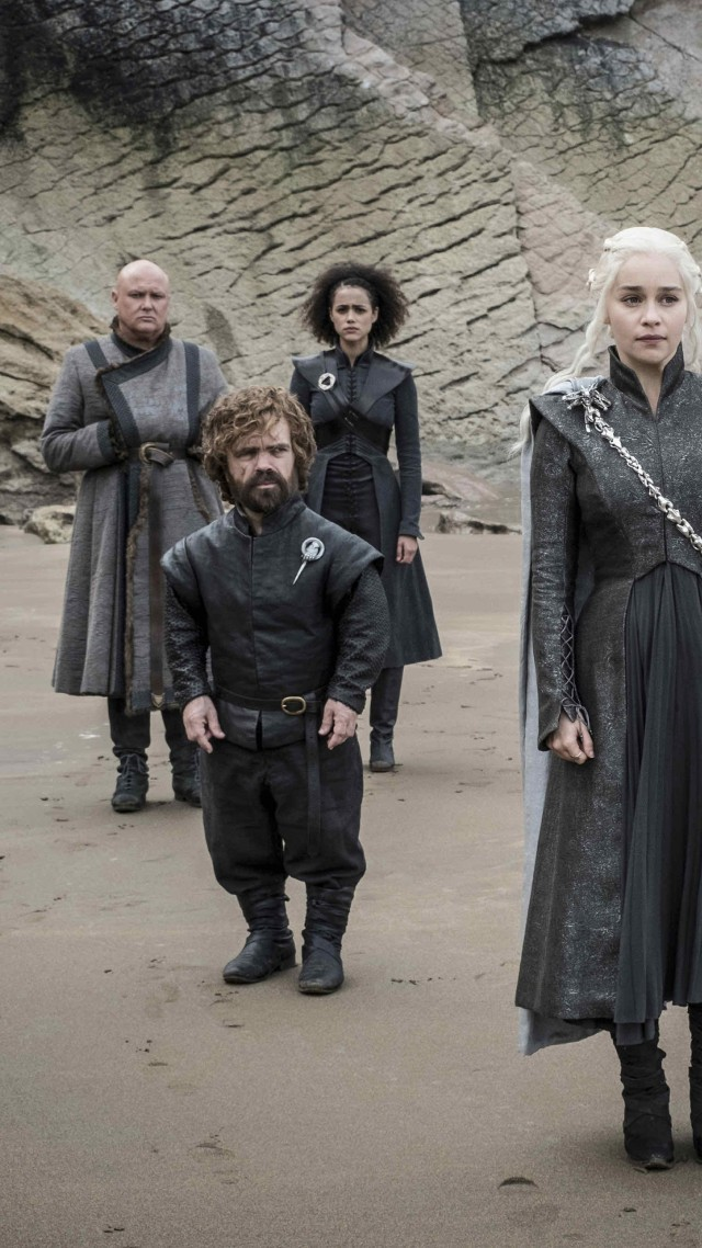Game of Thrones Season 7, Tyrion Lannister, Peter Dinklage, Jon Snow, Daenerys Targaryen, Kit Harington, Emilia Clarke, TV Series, 4k (vertical)