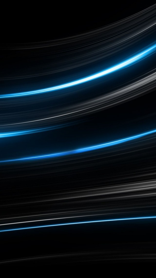 Wallpaper Lines, Black, Blue, 4k, OS #15378