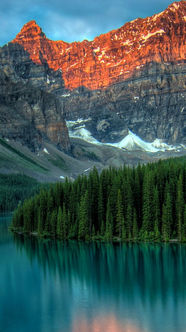 Wallpaper Moraine Lake Banff Canada Mountains Forest 4k Nature 15562