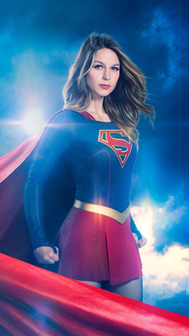 ... Supergirl Season 3, Melissa Benoist, TV Series, 4k (vertical)