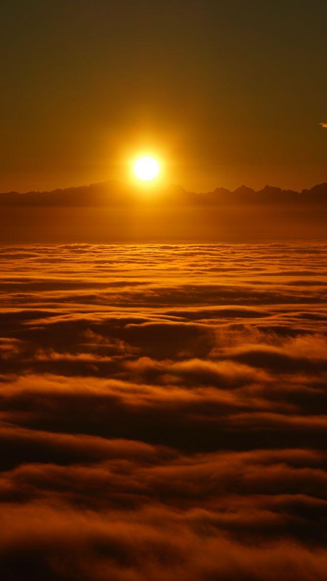 Wallpaper Sunrise Clouds Sky Sun 8k Nature 15631
