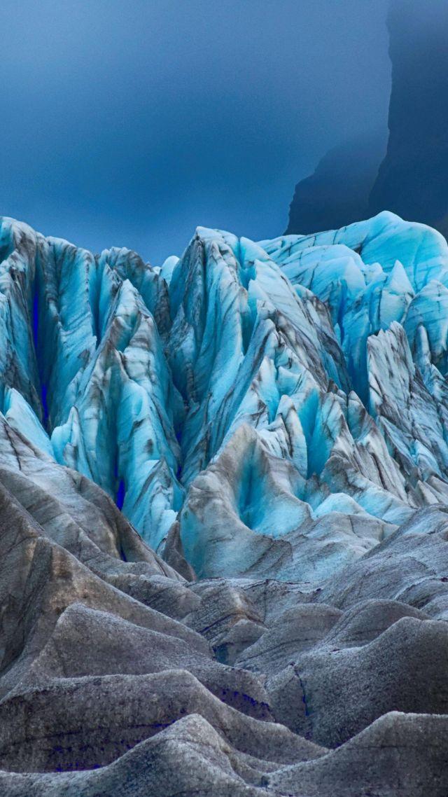 Ice Glacier 4k Vertical