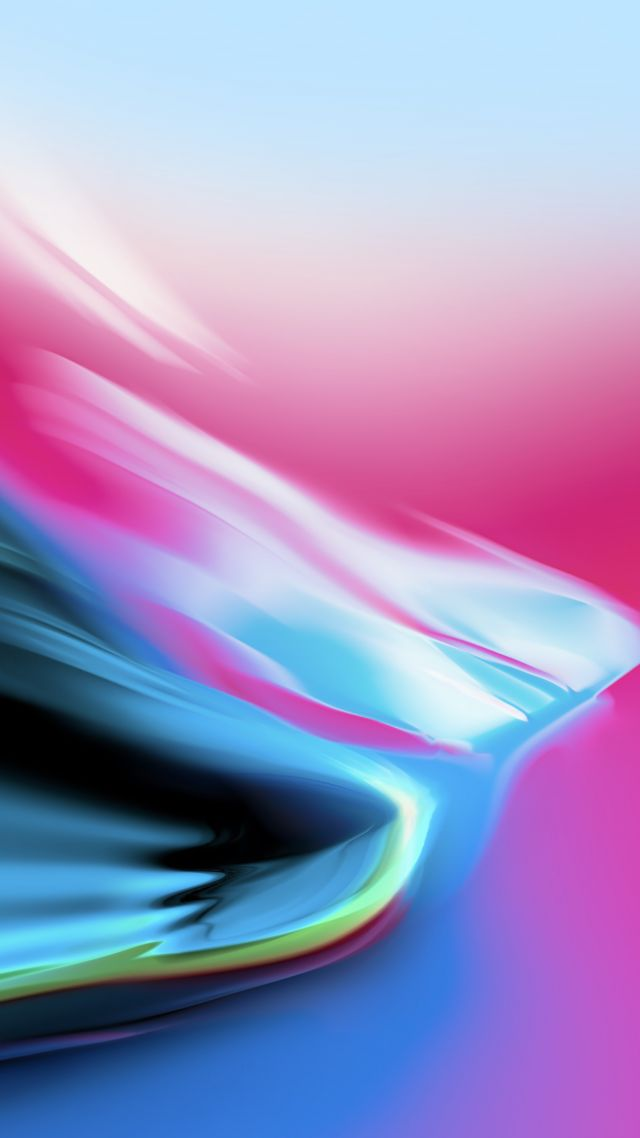 iPhone X wallpaper, iPhone 8, iOS 11, colorful, HD (vertical)
