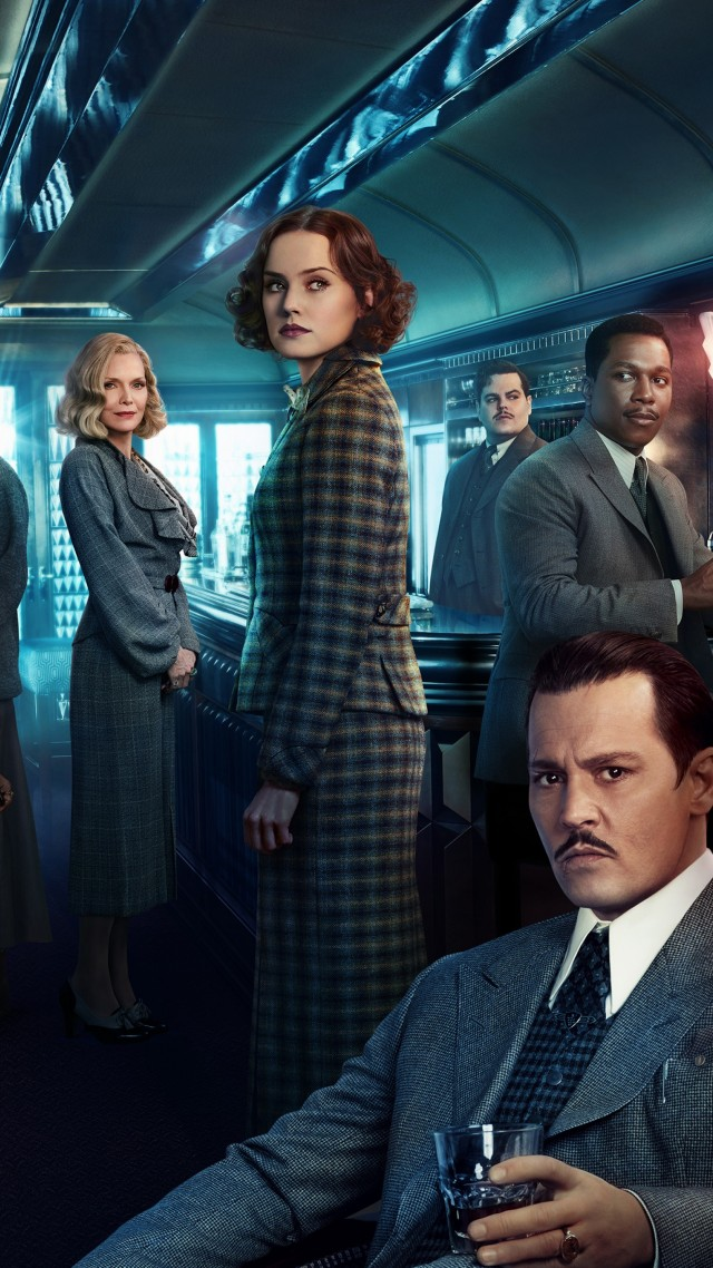 Murder on the Orient Express, Johnny Depp, Daisy Ridley, Penelope Cruz, Michelle Pfeiffer, 5k (vertical)