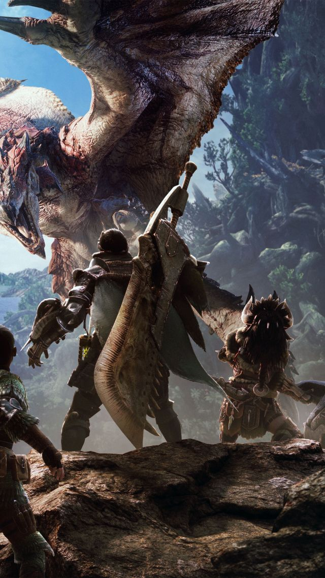 Monster Hunter, Tokyo Game Show 2017, screenshot, 4k (vertical)