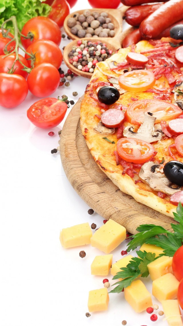 wallpaper pizza tomato 5k food 16055