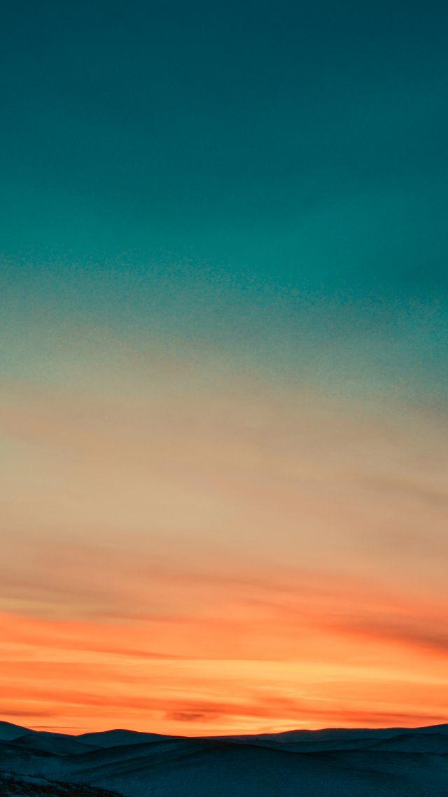 Wallpaper Sunset, Sky, Mountains, 4k, Nature #16101