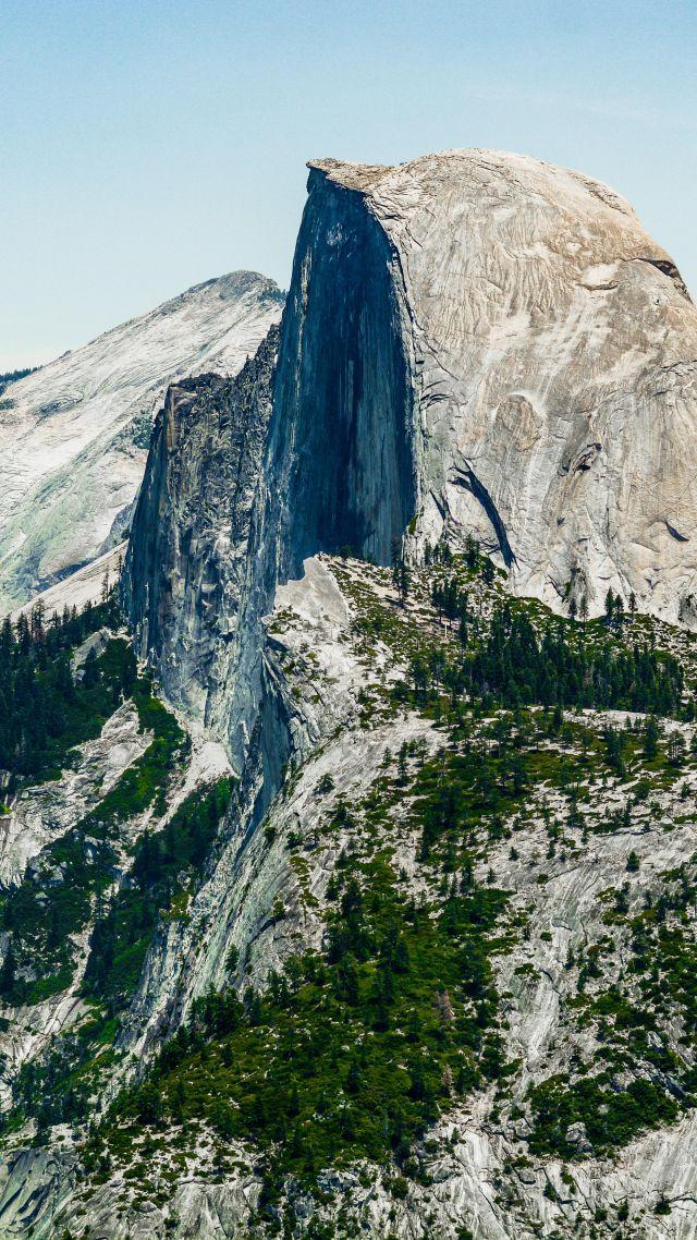 Wallpaper Half Dome Mountain Yosemite National Park