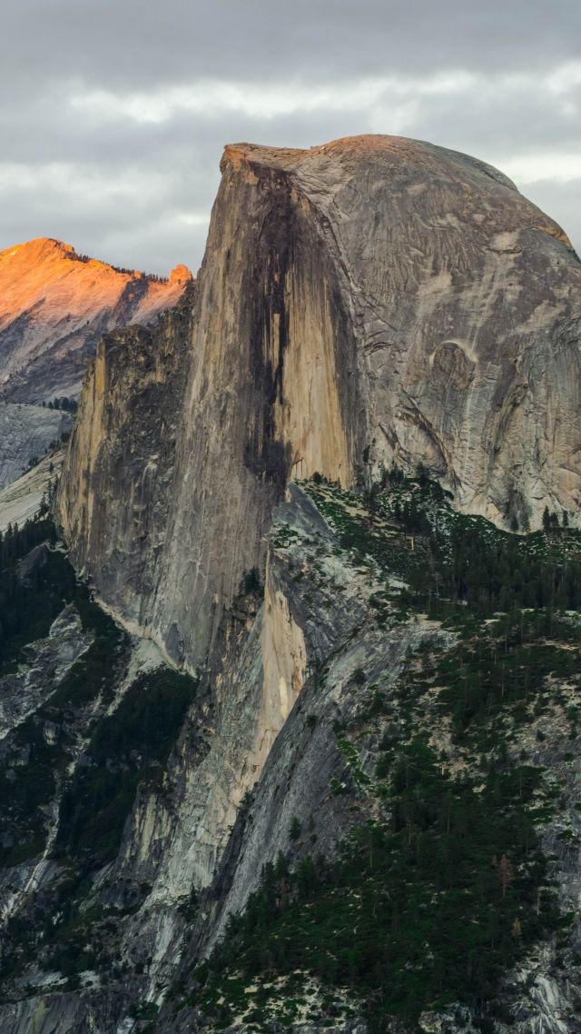 Half Dome, mountain, Yosemite, National Park, California, 8k (vertical)
