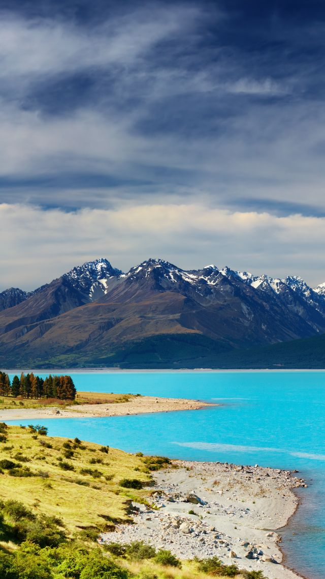 Wallpaper New Zealand River Mountains 5k Nature 16207