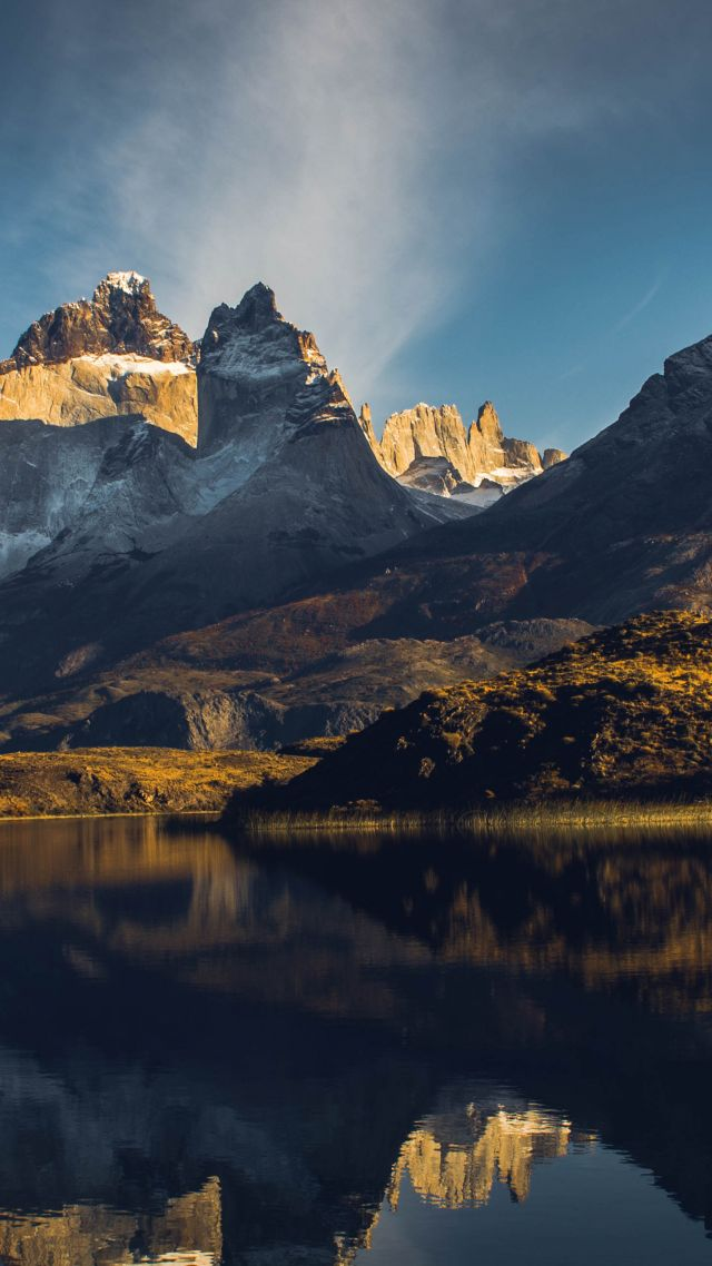 Lake Gray, Torres del Paine, Chile, mountains, 5k (vertical)