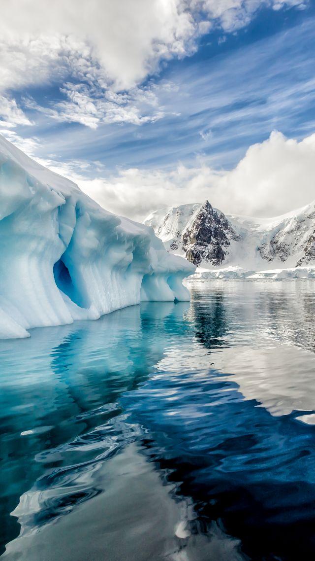 Wallpaper antarctica iceberg ocean 8k nature 16237 - Nature wallpaper vertical ...