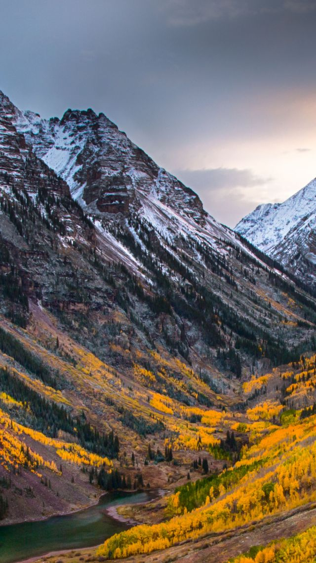 wallpaper autumn, forest, mountain, 4k, nature #16241