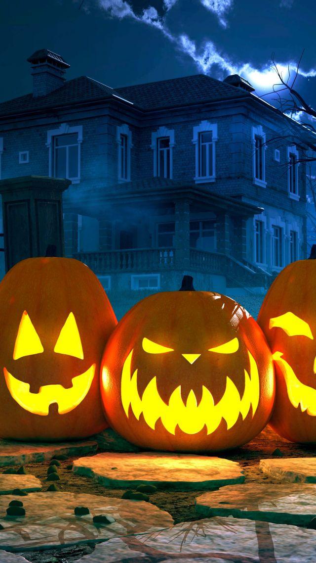 Wallpaper Halloween Pumpkin 4k Holidays 16304