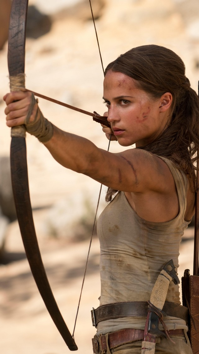 Lara Croft, Tomb Raider, Alicia Vikander, 5k (vertical)