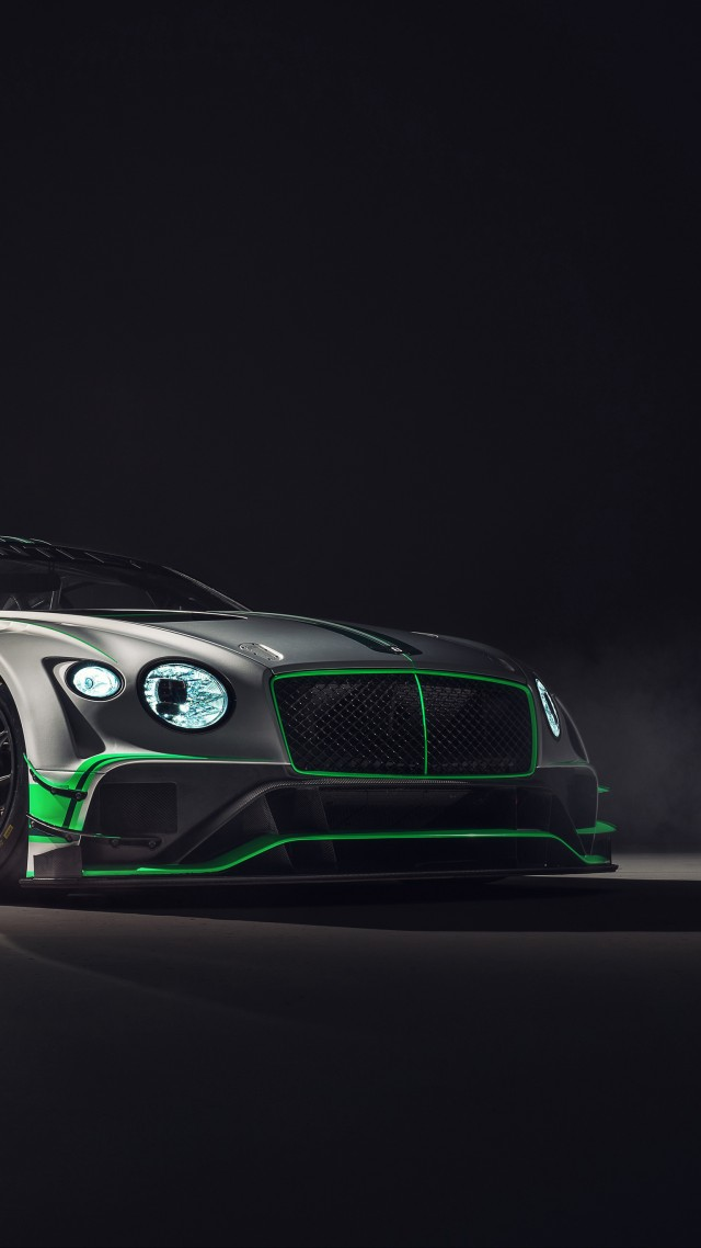 Bentley Continental GT3, 2018 Cars, 4k (vertical)