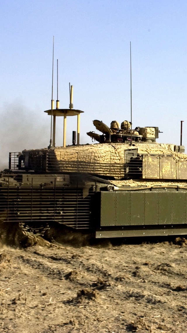 Challenger 2, FV4034, MBT, tank, British Army, United Kingdom, armoured, desert (vertical)