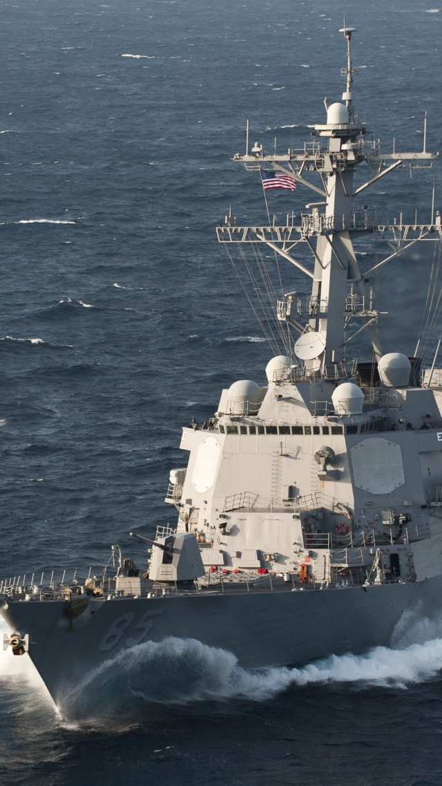 USS McCampbell, destroyer, Arleigh Burke-class, DDG-85, U.S. Navy, warship (vertical)