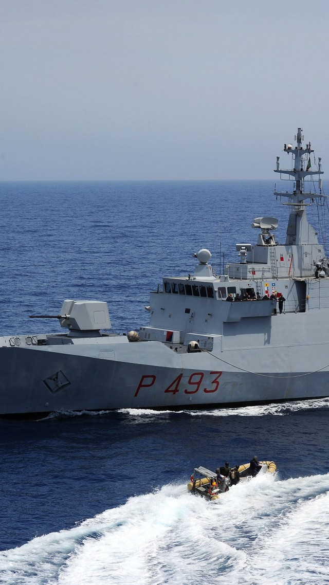 Wallpaper corvette, Comandante Foscari, Saar, Italian Navy