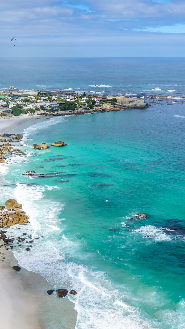 ... Cape Town, Clifton Beachs, ocean, 4k (vertical)