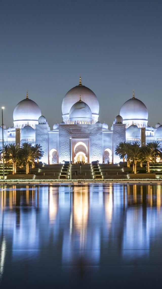 Sheikh Zayed Mosque, Abu Dhabi, 4k (vertical)
