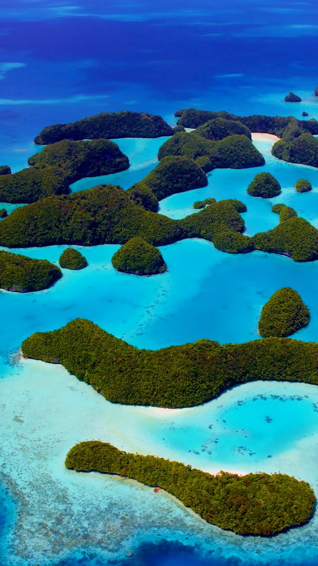 Palau, Philippines, ocean, islands, 5k (vertical)